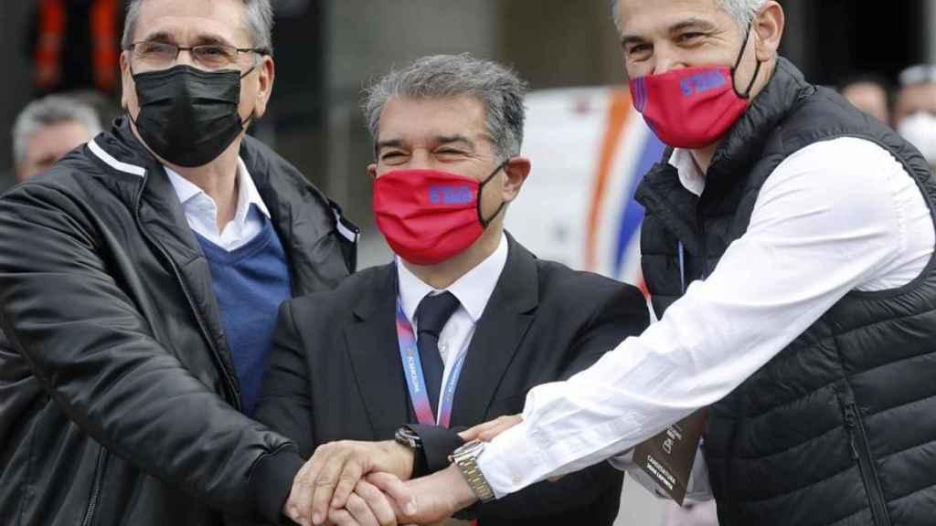 Joan Laporta, durante el día de las elecciones a la presidencia del Barcelona