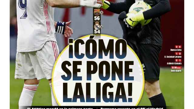 La portada del diario MARCA (08/03/2021)
