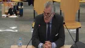 Luis Bárcenas, extesorero del PP durante su declaración ante la Audiencia Nacional