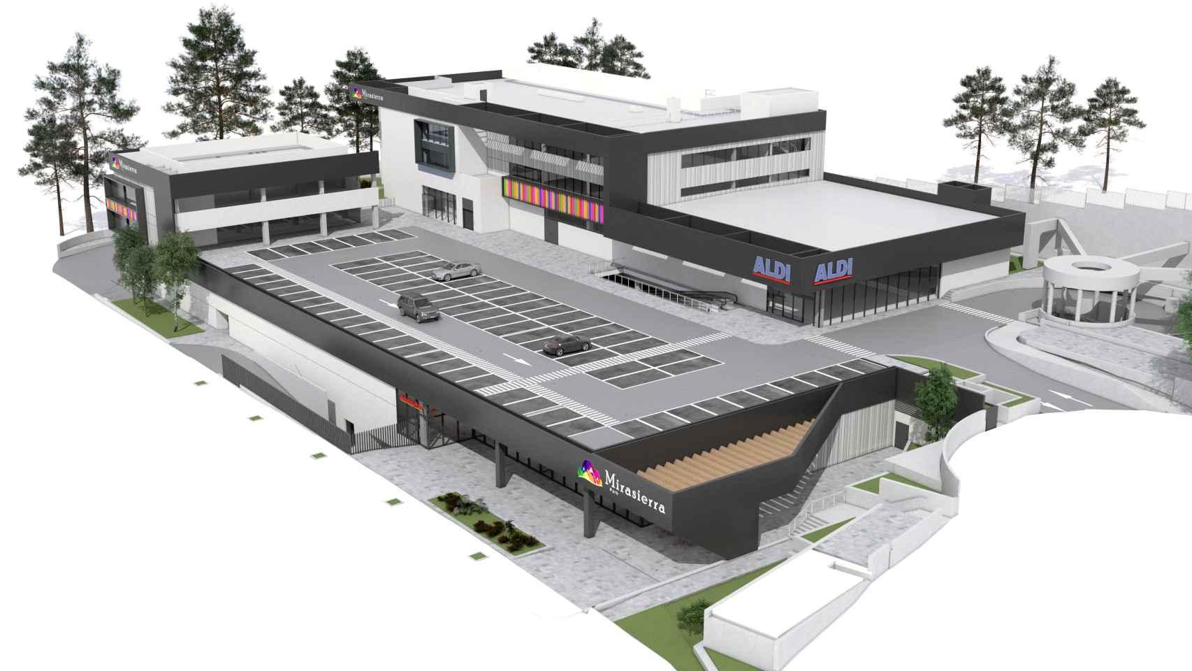 Infrografía del centro comercial de Mirasierra Gallery.