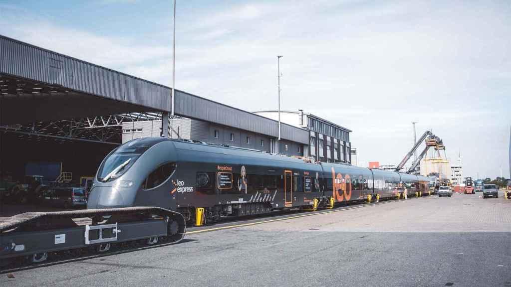 Un tren de Leo Express.