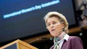 La presidenta de la Comisión, Ursula von der Leyen, este lunes en la Eurocámara