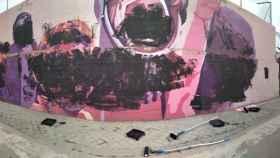 Atacan el mural feminista en Madrid que Vox quería eliminar.