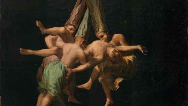 Detalle de 'Vuelo de brujas', un lienzo de Francisco de Goya.