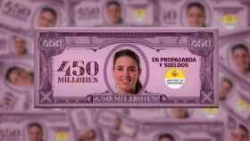 Así son los billetes que ha repartido Frente Obrero con la cara de Irene Montero.