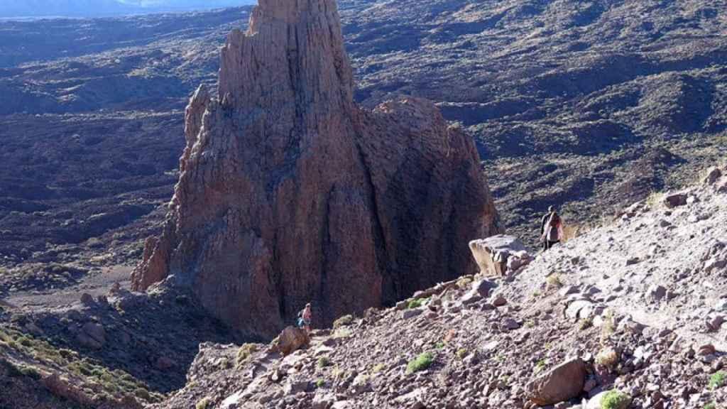 El Roque de La Catedral, en el Parque Nacional del Teide.