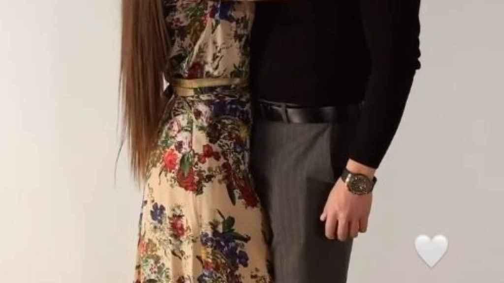 Brayan y Julia en una de las fotos que ella compartió en San Valentín.
