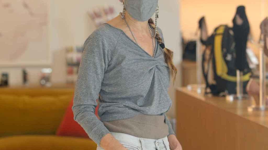 Sarah Jessica Parker con mascarilla.