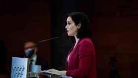 La presidenta de la Comunidad de Madrid, Isabel Díaz Ayuso, este martes.