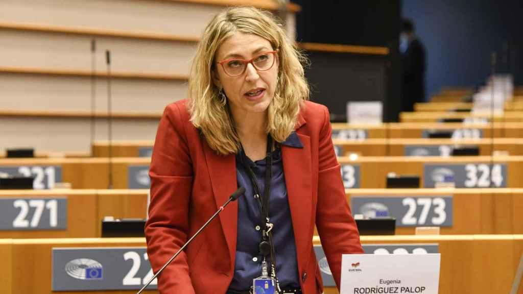 La líder de Unidas Podemos en la Eurocámara, María Eugenia Rodríguez Palop