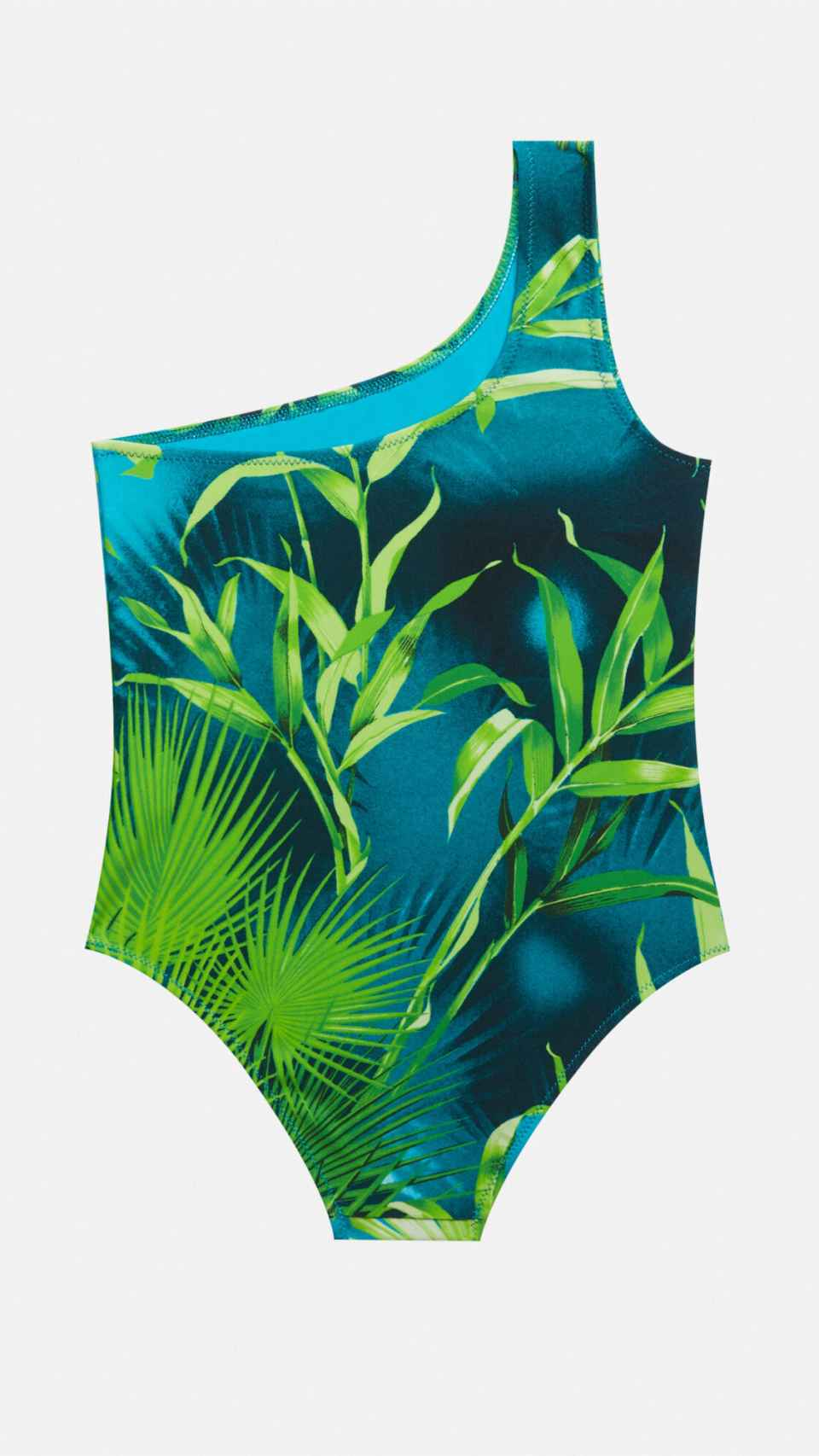 This is the jungle print swimsuit signed by Versace.