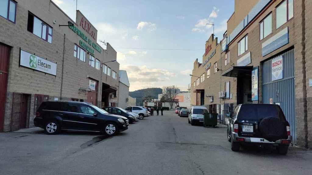 La calle donde trabajaba Fausto, en San Agustín de Guadalix.