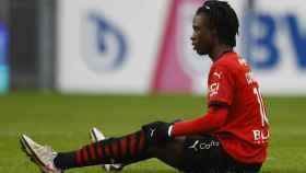 Eduardo Camavinga, en un partido del Rennes en la temporada 2020/2021