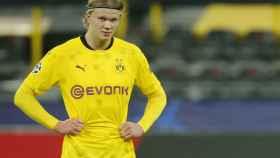 Erling Haaland, en un partido del Borussia Dortmund de la Champions League 2020/2021