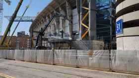 La 'muela' del Santiago Bernabéu en el mes de marzo