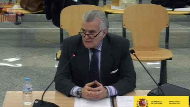 Luis Bárcenas, extesorero del PP, declarando en la Audiencia Nacional por la caja B del PP.