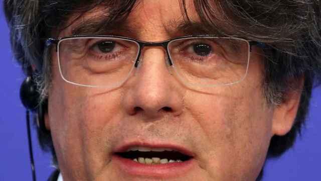 Imagen de archivo de Carles Puigdemont, en rueda de prensa en la Eurocámara.