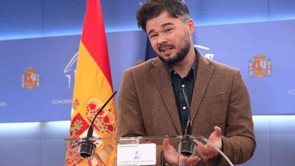 Rufián, el 'pistolero' sin balas: las amenazas del portavoz de ERC ya ni inquietan al Gobierno