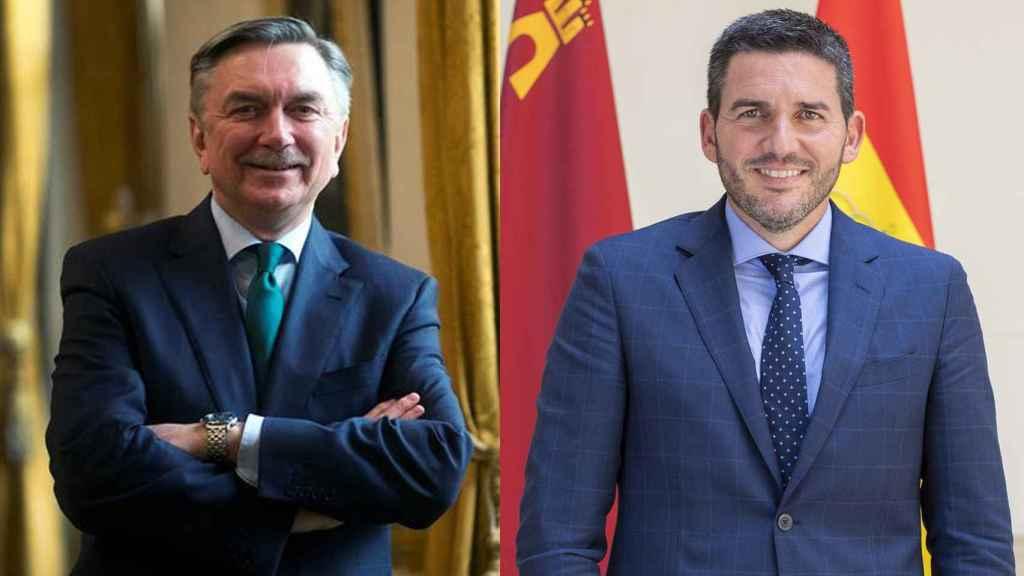 El embajador de Rusia en España y el consejero de Agricultura en Murcia.