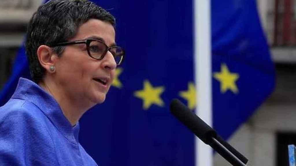 Arancha González Laya, ministra de Asuntos Exteriores, ante las instituciones europeas.