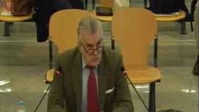 Bárcenas, en la sesión del juicio de este martes, en la que ha terminado su declaración./