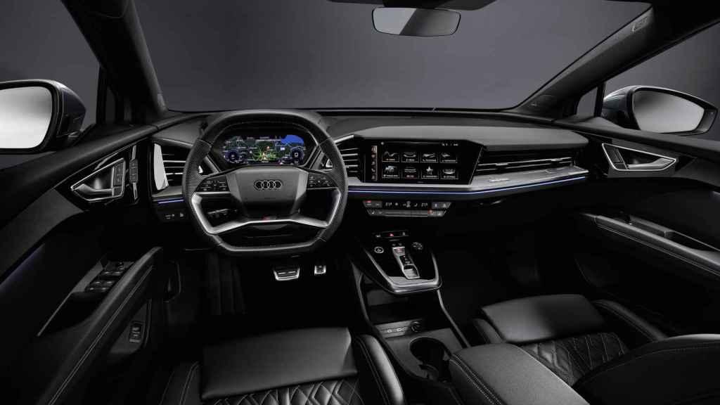 Interior del Audi Q4 e-tron.