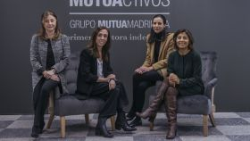 Las gestoras de renta fija de Mutuactivos. Por orden: Esther Álvarez, María Portillo, Rebeca Martínez y Erika Vidal.