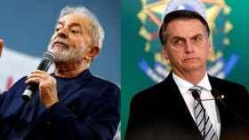 Lula da Silva y Jair Bolsonaro en un montaje.