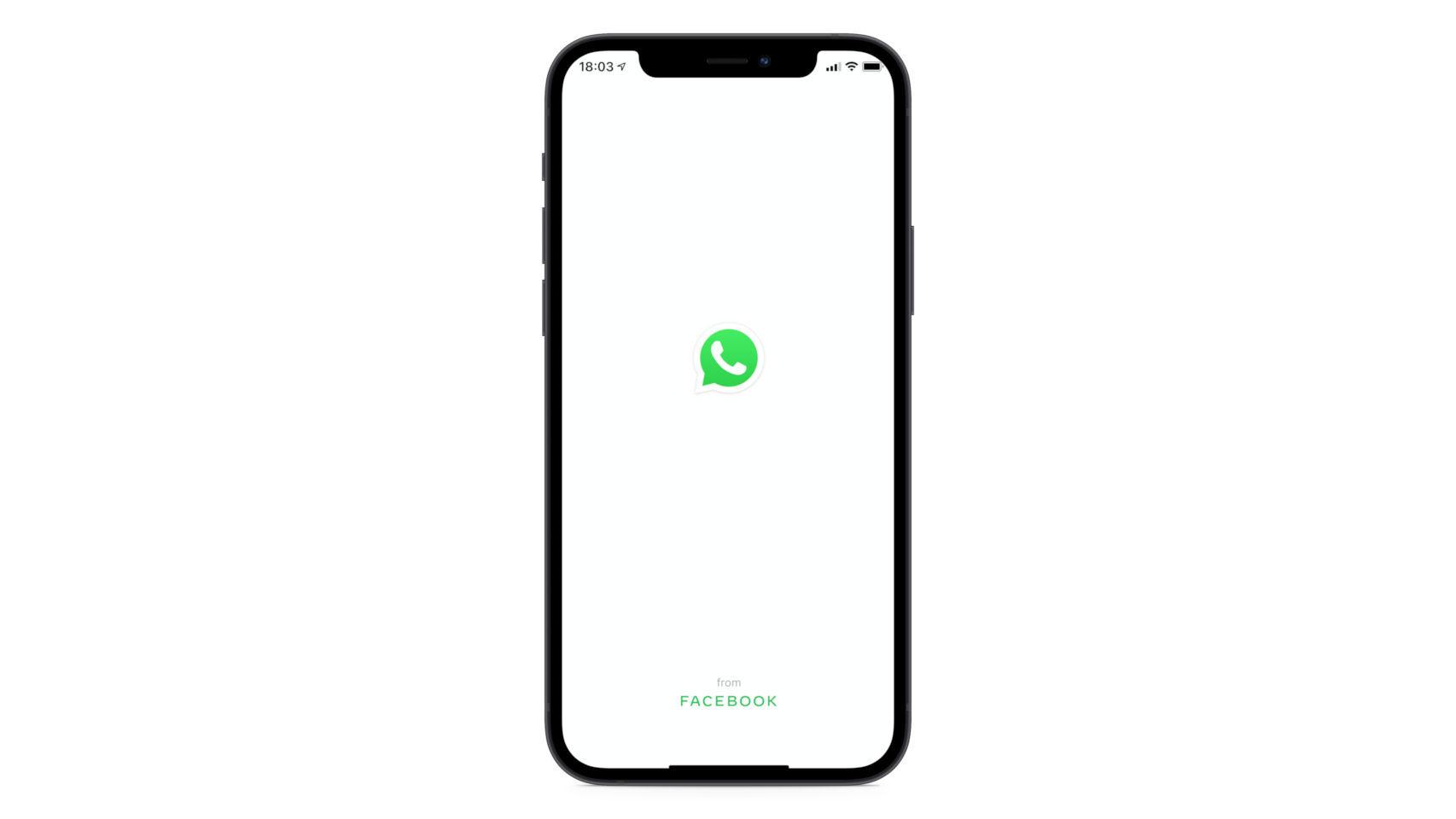 WhatsApp en un iPhone