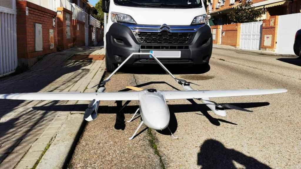 Otro de los drones que transportan paquetes.