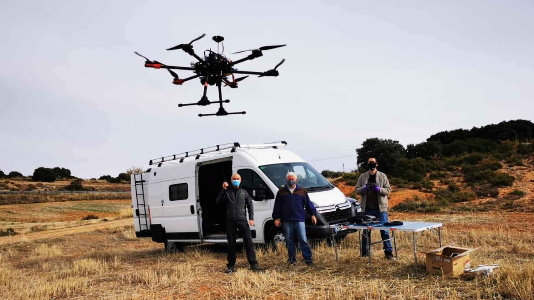 Uno de los drones que se están probando en Villaverde.