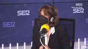 Dolores Delgado durante la entrevista a la Cadena Ser.