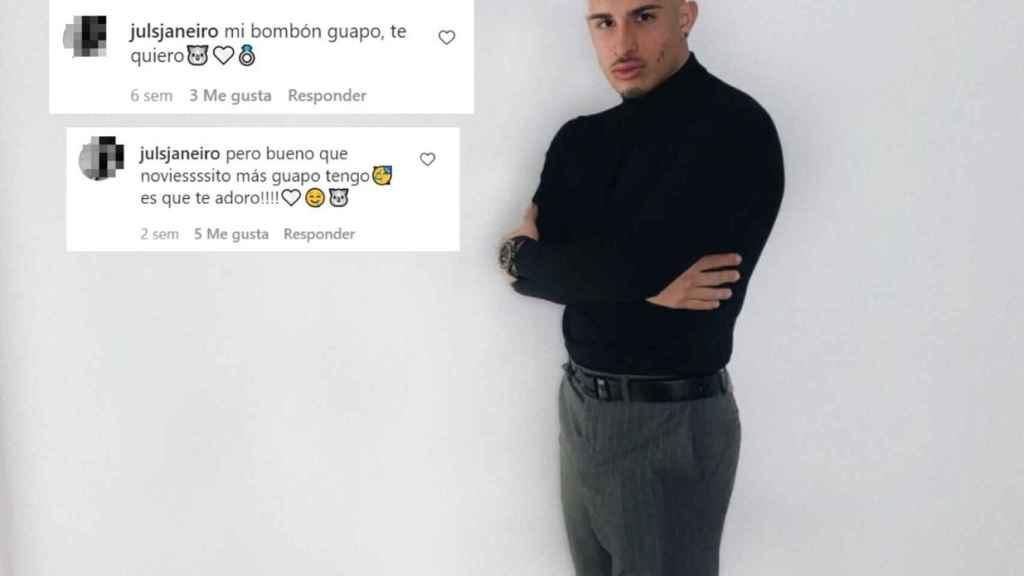 Estos son los comentarios que le dedica Julio Janeiro a su pareja en Instagram.