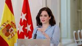 La presidenta de la Comunidad de Madrid, Isabel Díaz Ayuso, anuncia el adelanto de las elecciones regionales.
