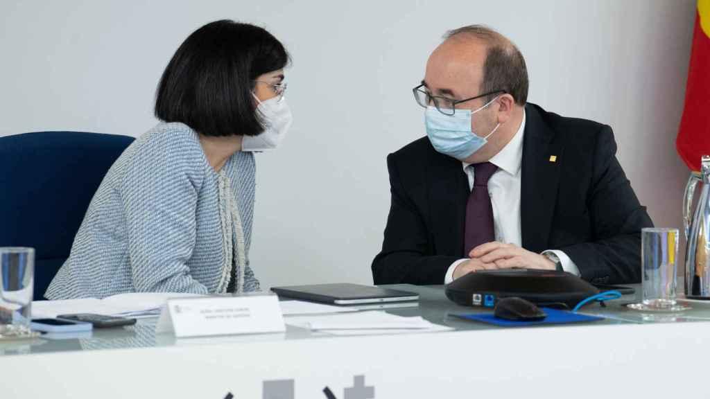 La ministra de Sanidad, Carolina Darias; y el ministro de Política Territorial y Función Pública, Miquel Iceta.