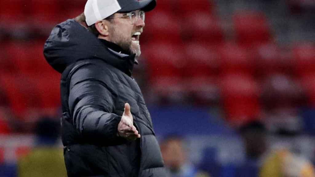 Klopp durante un partido del Liverpool