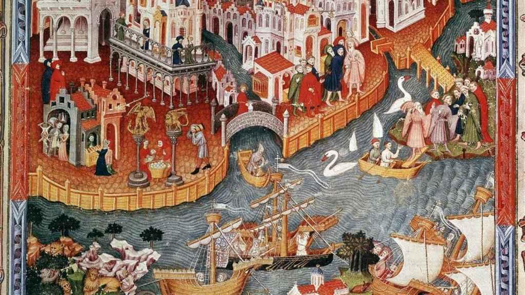 Registro del viaje de Marco Polo a China desde Venecia