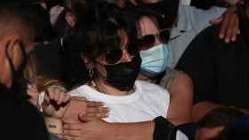 Giannina Maradona durante la marcha por su padre