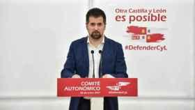El secretario general del PSOE de Castilla y León Luis Tudanca