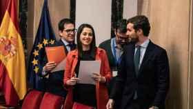 La presidenta de Cs, Inés Arrimadas, y el presidente del PP, Pablo Casado, en imagen de archivo.