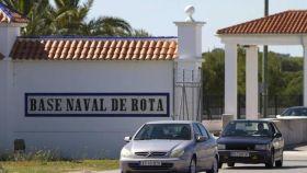 Entrada de la base naval de Rota.