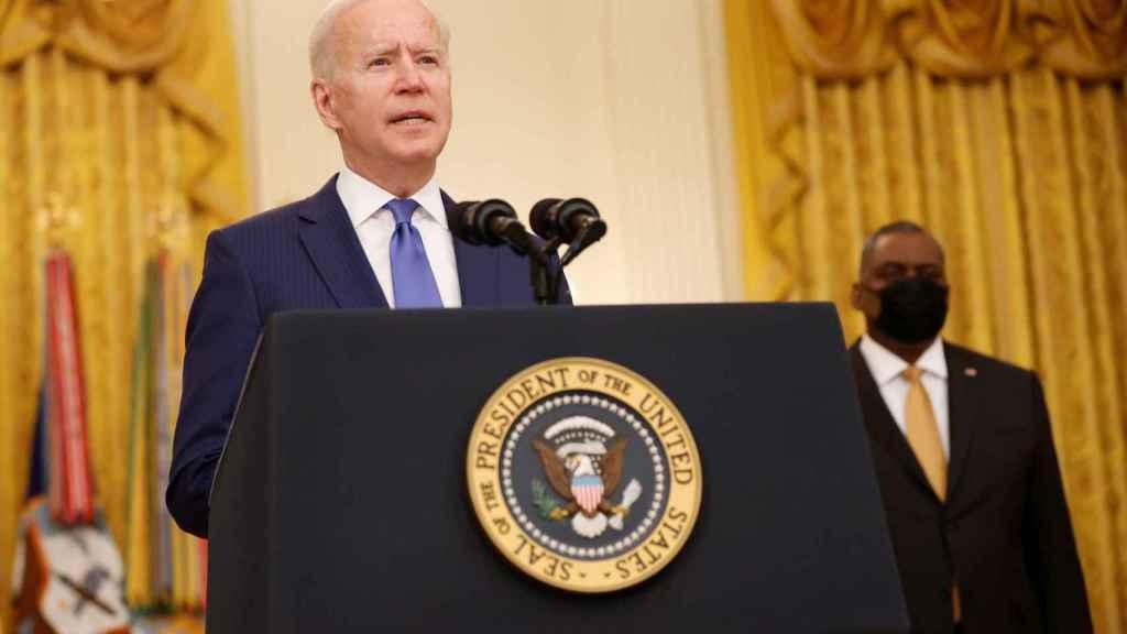El presidente de EEUU, Joe Biden, durante una rueda de prensa en la Casa Blanca.