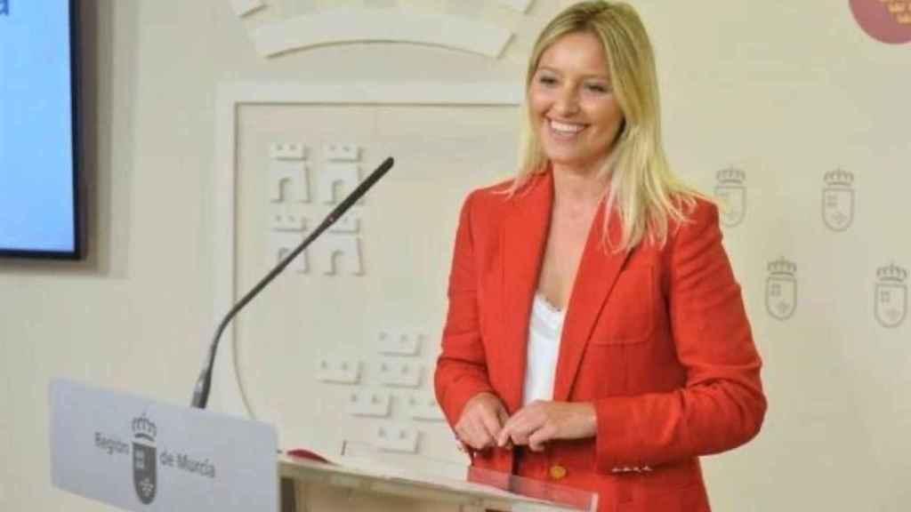 Ana Martínez Vidal en una comparecencia como portavoz del Consejo de Gobierno de Murcia.