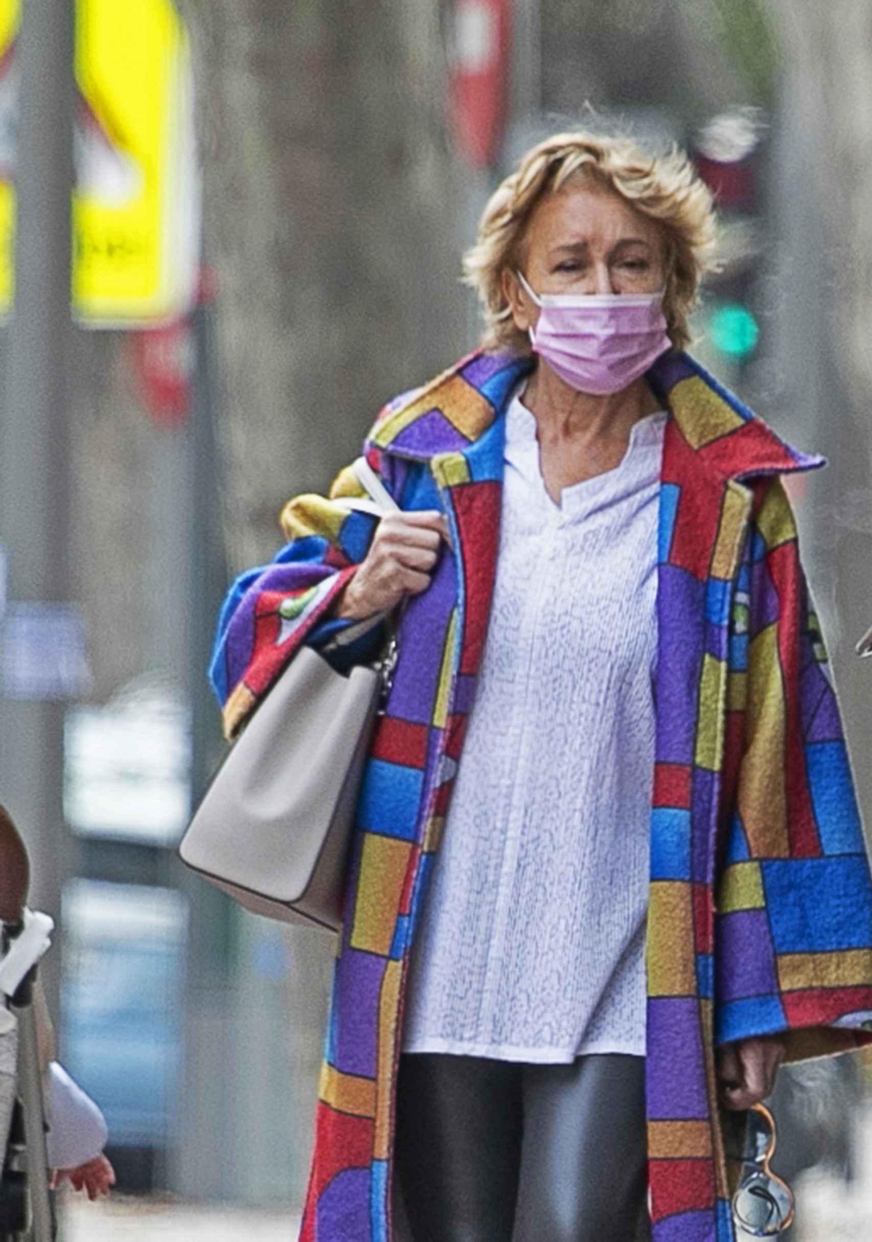 Mila Ximénez, acudiendo al hospital.