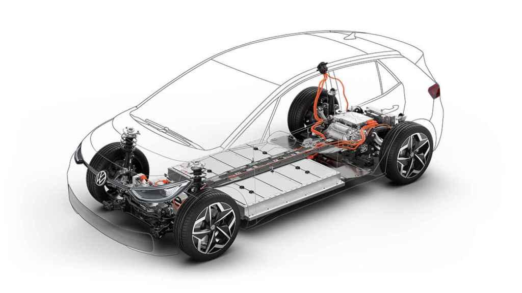 Diseño de la plataforma para vehículos eléctricos del grupo Volkswagen denominada MEB.