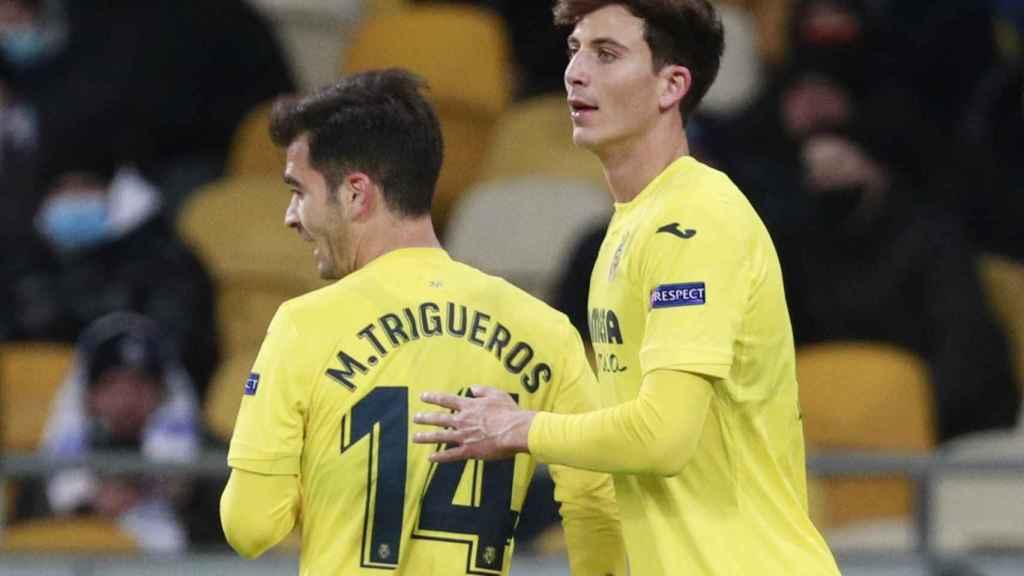 Pau Torres tras su gol con el Villarreal