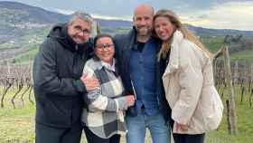 Florentino Fernández, María del Monte, Gonzalo Miró y Anne Igartiburu en 'Dos parejas y un destino'.