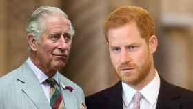 El príncipe Carlos y Harry, en un fotomontaje de JALEOS.