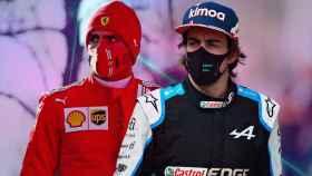 Fernando Alonso y Carlos Sainz, en un fotomontaje