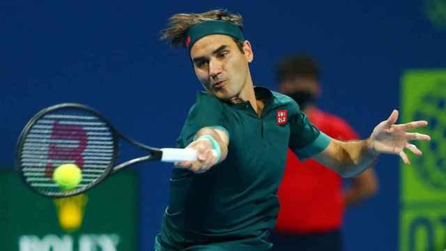 Roger Federer, en el ATP 250 de Doha